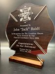 Acrylic with Walnut Color Custom Acrylic Awards