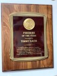 Walnut Plaque with Casting Fire and Safety Awards