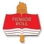 Honor Roll Lapel Pin Scholastic Trophy Awards